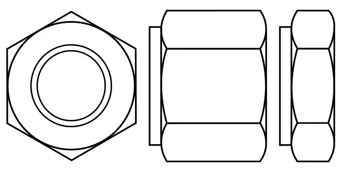 Collar, reduced shank or tall washer faced nuts