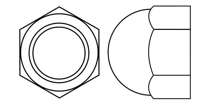 Low Dome Hexagon Cap Nut