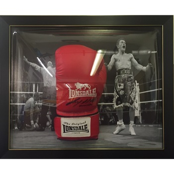 Ricky Hatton Signed Boxing glove - Dome Frame