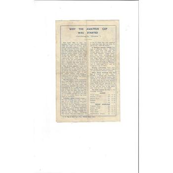 1946 Bishop Auckland v Barnet FA Amateur Cup Final Football Programme @ Chelsea