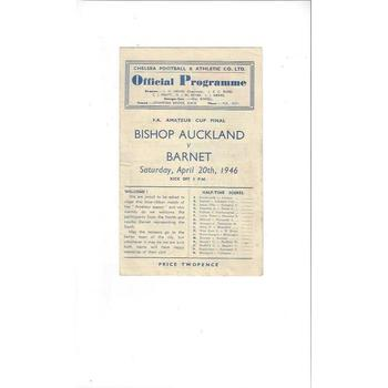Bishop Auckland v Barnet FA Amateur Cup Final Football Programme 1946 @ Chelsea