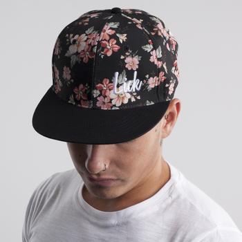 Black/Pink Floral Snapback