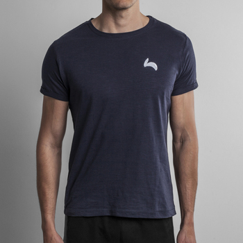 Fitted Slim Fit Navy Tee