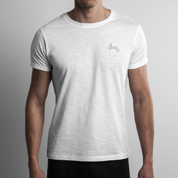 Fitted Slim Fit White Tee