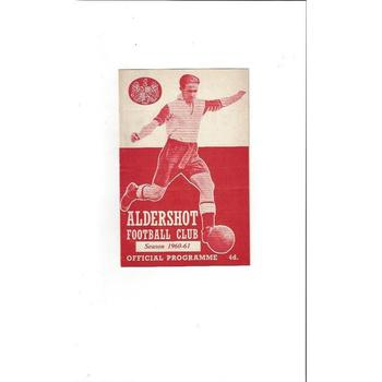 1960/61 Aldershot v Darlington Football Programme