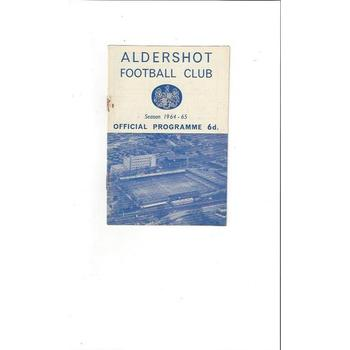 1964/65 Aldershot Home v Halifax Town Football Programme