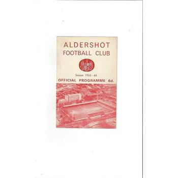 1965/66 Aldershot v Chester Football Programme
