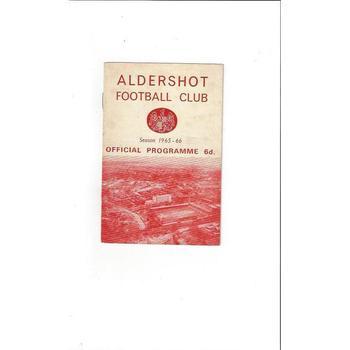 1965/66 Aldershot v Crewe Alexandra Football Programme