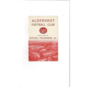 Aldershot v Lincoln City 1965/66