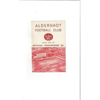 Aldershot Home Football Programmes