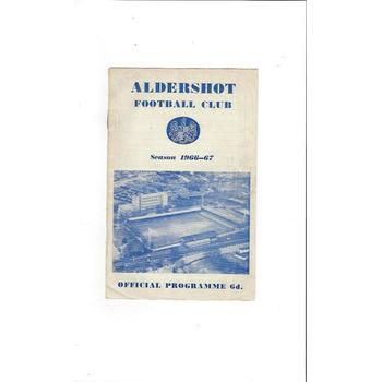 Aldershot v Barrow 1966/67