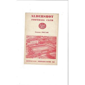 Aldershot v Bradford City 1967/68