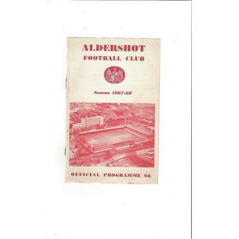 Aldershot v Crewe Football Programme 1967/68