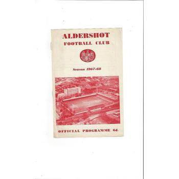 Aldershot v Notts County Football Programme 1967/68