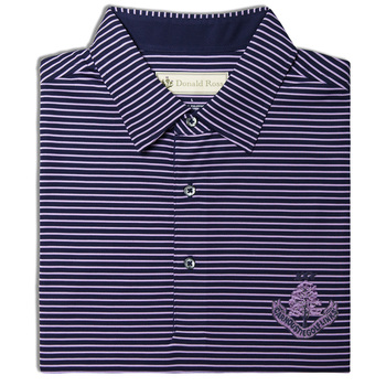 DR175A:  Self Collar Shirt - Navy/Lavender