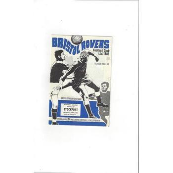 Bristol Rovers v Stockport County 1968/69