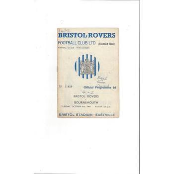 Bristol Rovers Home Football Programmes