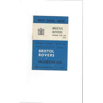 Bristol Rovers v Colchester United 1966/67