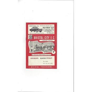 1960/61 Bristol City v Halifax Town Football Programme