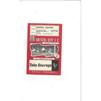 1964/65 Bristol City v Brentford Football Programme