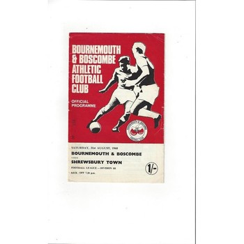 1968/69 Bournemouth v Shrewsbury Town Football Programme