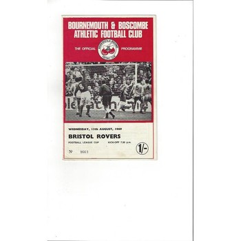 1969/70 Bournemouth v Bristol Rovers League Cup Football Programme