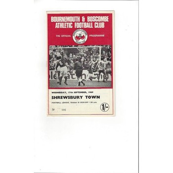 Bournemouth v Shrewsbury Town 1969/70