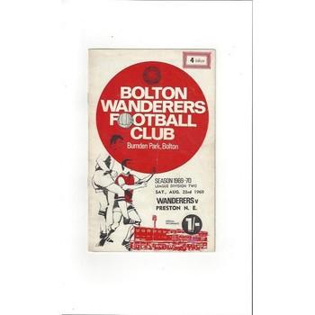 Bolton Wanderers v Preston 1969/70