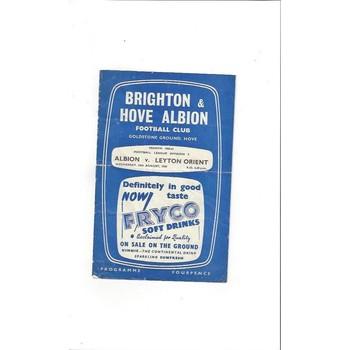 1960/61 Brighton v Leyton Orient Football Programme