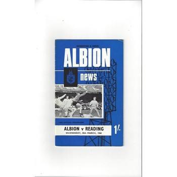 Brighton & Hove Albion Home Football Programmes