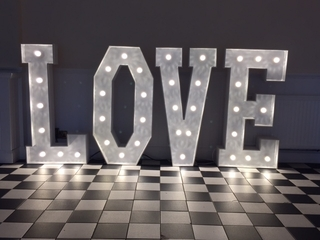 "LOVE Light Up Letters for Weddings "" battery operated"""