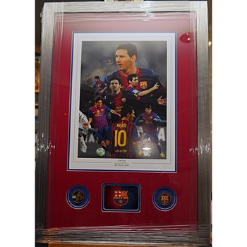 Lionel Messi Signed Montage