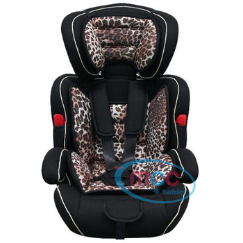 Mcc 3 in 1 Leopard Baby Car Booster Seat For Group 1/2/3 9-36kg