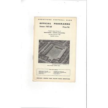 Brentford v Crewe Alexandra 1967/68