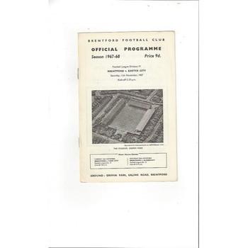 Brentford v Exeter City 1967/68