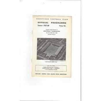 Brentford v Workington 1967/68