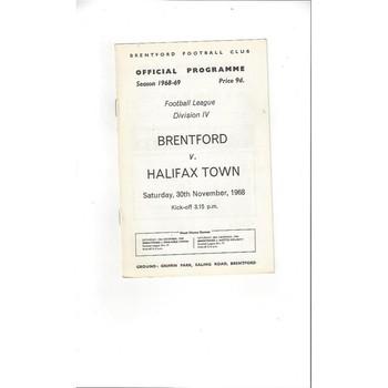 Brentford v Halifax Town 1968/69