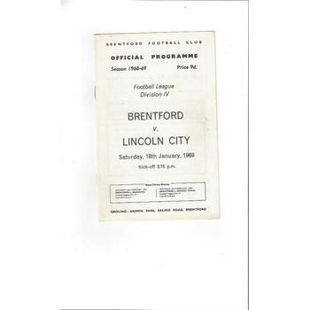 Brentford v Lincoln City 1968/69