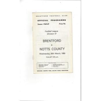 Brentford v Notts County 1968/69
