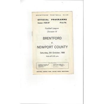 Brentford v Newport County 1968/69