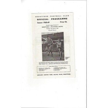 Brentford v Southend United 1968/69