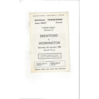 Brentford v Workington 1968/69
