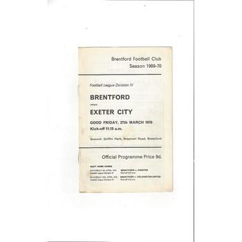 Brentford v Exeter City 1969/70