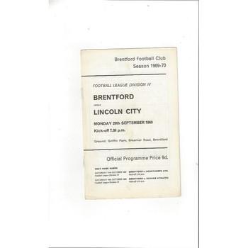 Brentford v Lincoln City 1969/70