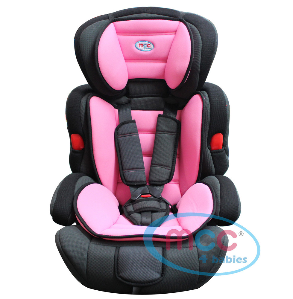 Mcc 3 in 1 Pink Baby Car Booster Seat For Group 1/2/3 9-36kg | MCC