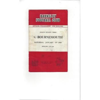 1968/69 Barnsley v Bournemouth Football Programme