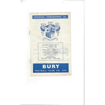 Bury v Grimsby Town 1963/64
