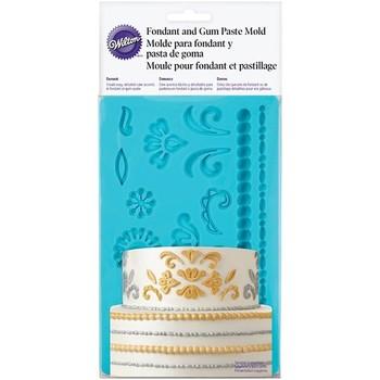 Wilton Damask Mould Fondant & Gum Paste Mould