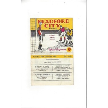 Bradford City Home Football Programmes