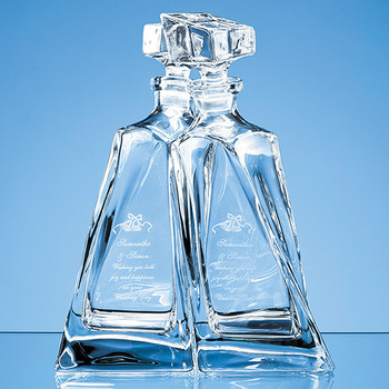 Crystalite Lovers Decanters - 0.5ltr (1 pair)